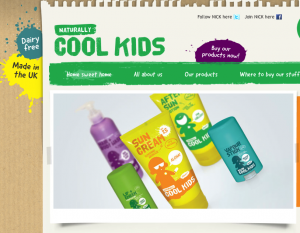 Naturally Cool Kids Gold Award Winning Website Screenshot